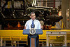 Obama speaking at Chrysler plant shrunk to 100 pixels wide. Obama himself is tiny in the picture at this size.